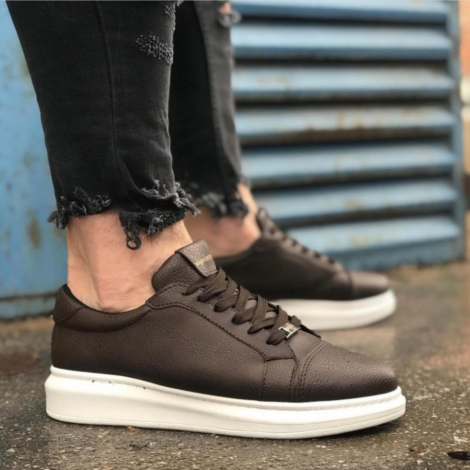 Pantofi sport barbati, maro, piele ecologica, ISAHAR