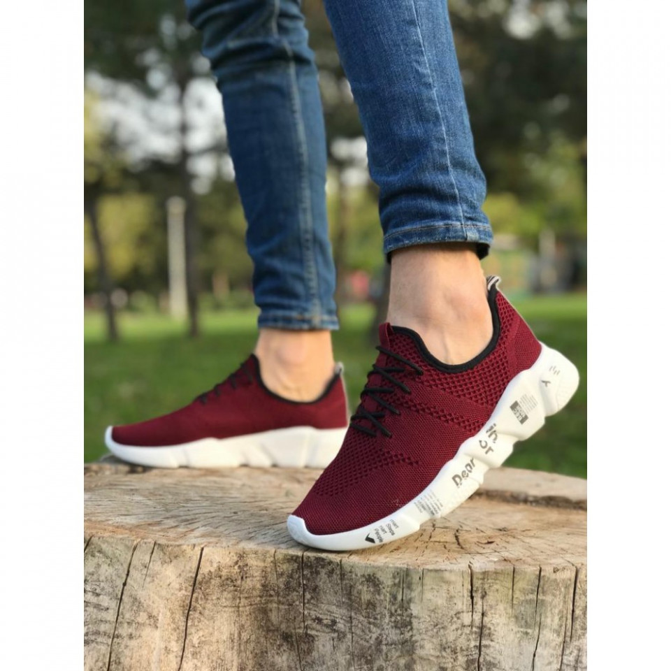 Pantofi sport grena, cu talpa flexibila din spuma, foarte usori si comozi