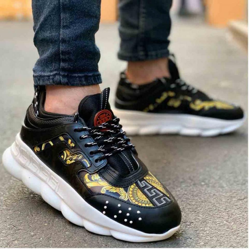 Pantofi sport negri, foarte usori si comozi, model casual, Isahar