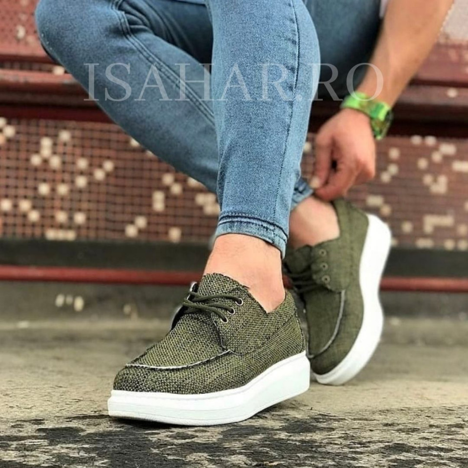 Pantofi sport barbati, kaki, foarte usori si comozi, un model special, ISAHAR