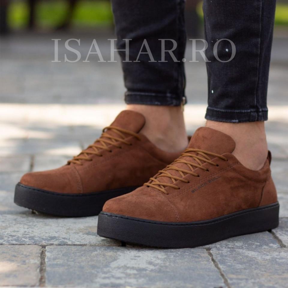 Pantofi sport barbati, maro, model special, casual, ISAHAR