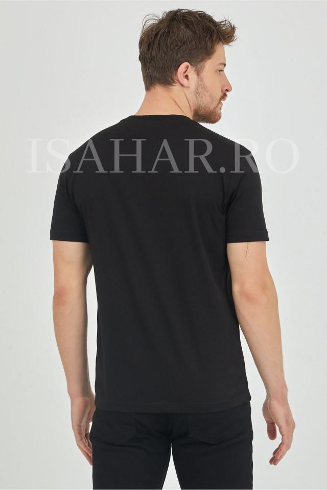 Tricou cu imprimeu pentru barbati , BREEZY, casual, din bumbac, ISAHAR