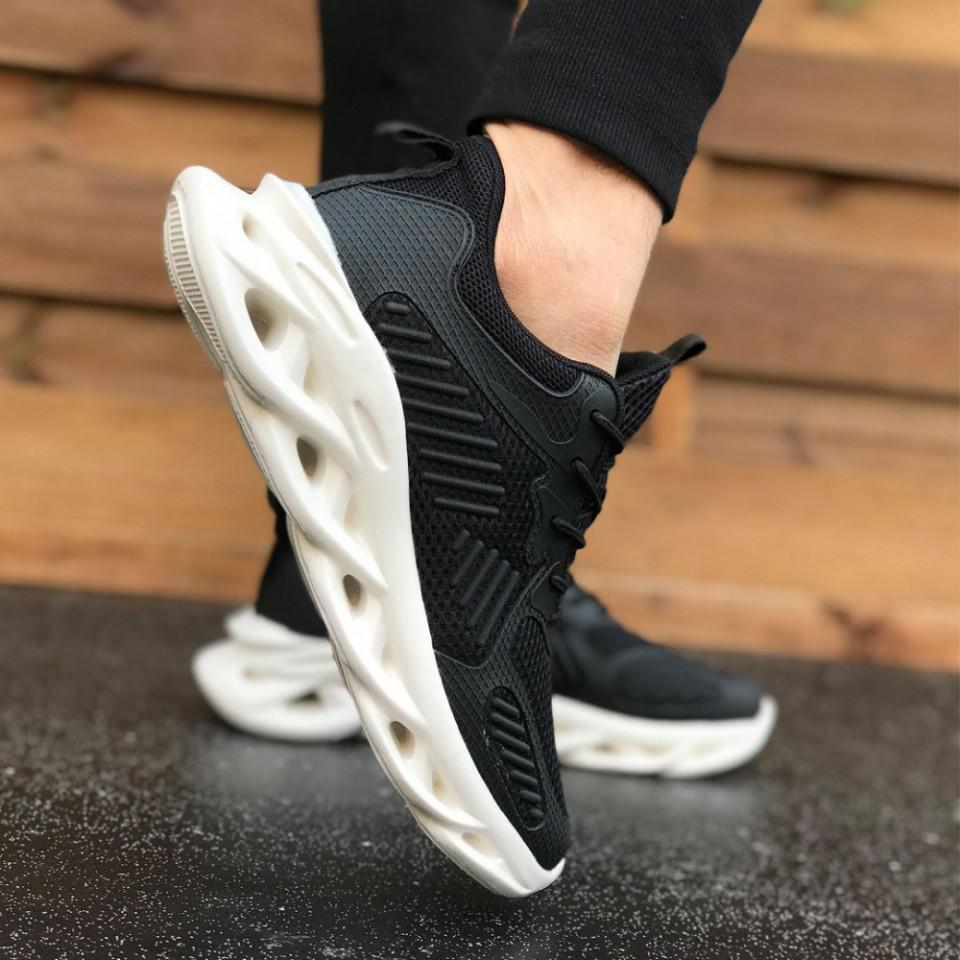 Pantofi sport barbati, negri, foarte usori cu talpa din spuma