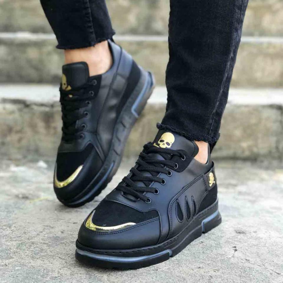 Pantofi sport negri, talpa flexibila spuma VRS, usori si cusuti, ISAHAR