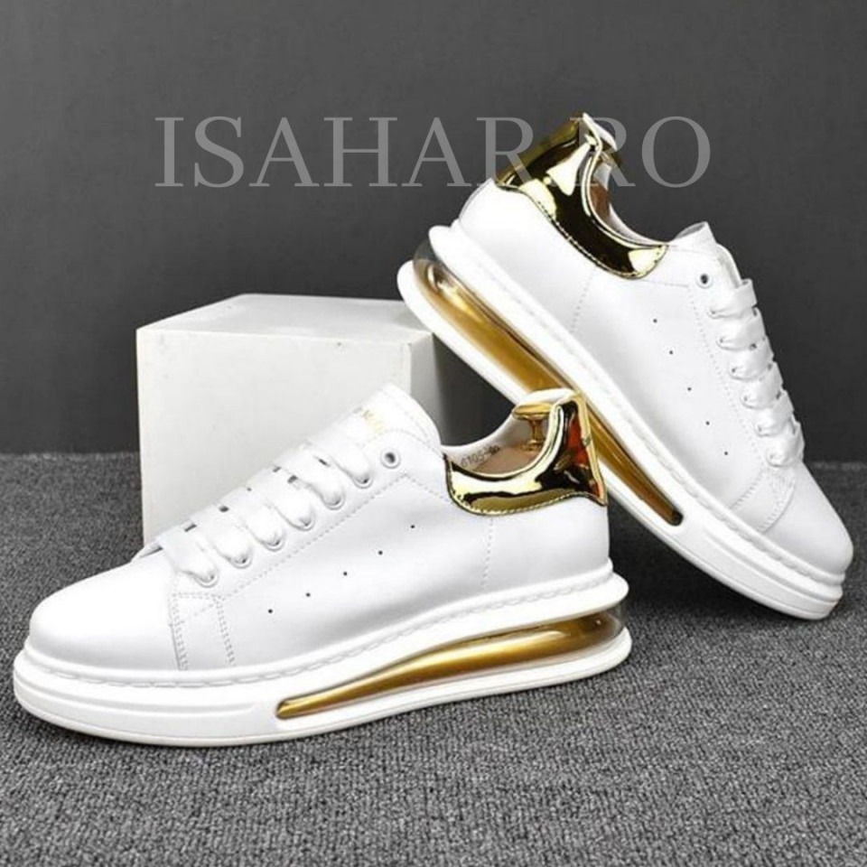 Pantofi sport barbati, albi, AIR MAX, super model, ISAHAR