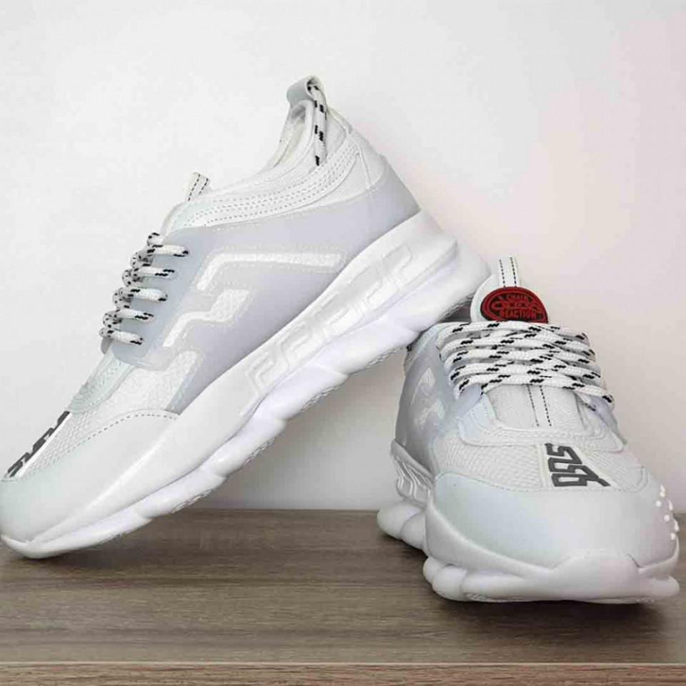 Pantofi sport albi, talpa usoara spuma, foarte confortabili, model premium, ISAHAR