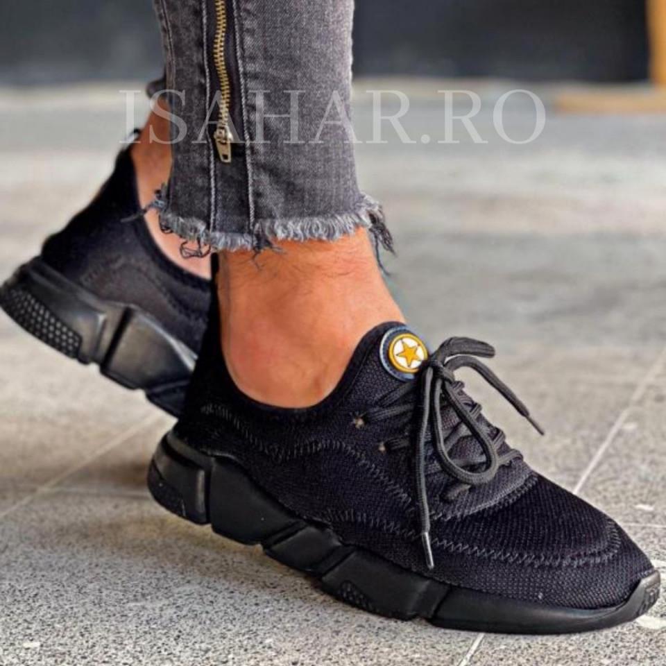 Pantofi sport negri, casual, casual, foarte usori, ISAHAR