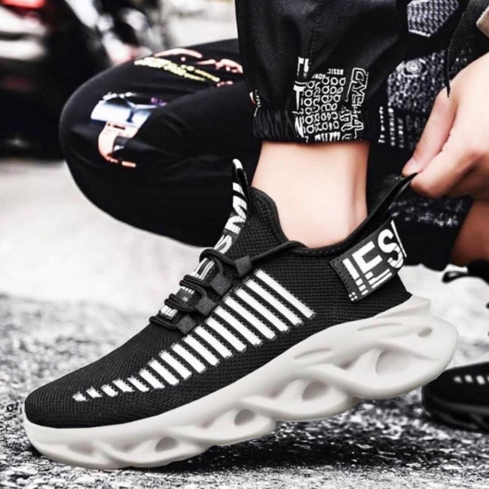 Pantofi sport negri, talpa din spuma, model premium, ISAHAR