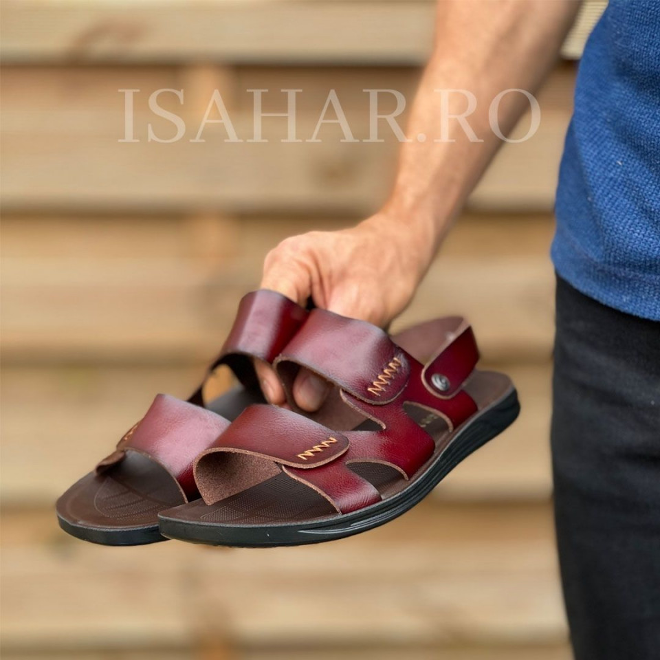 Sandale premium barbati, culoare maro, ISAHAR
