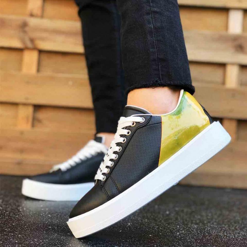 Pantofi sport barbati, cu aplicatii colorate, confortabili, ISAHAR