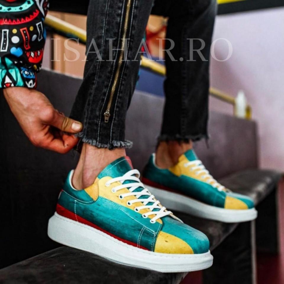 Pantofi sport barbati, materiale rezistente la apa, imprimeu special, ISAHAR