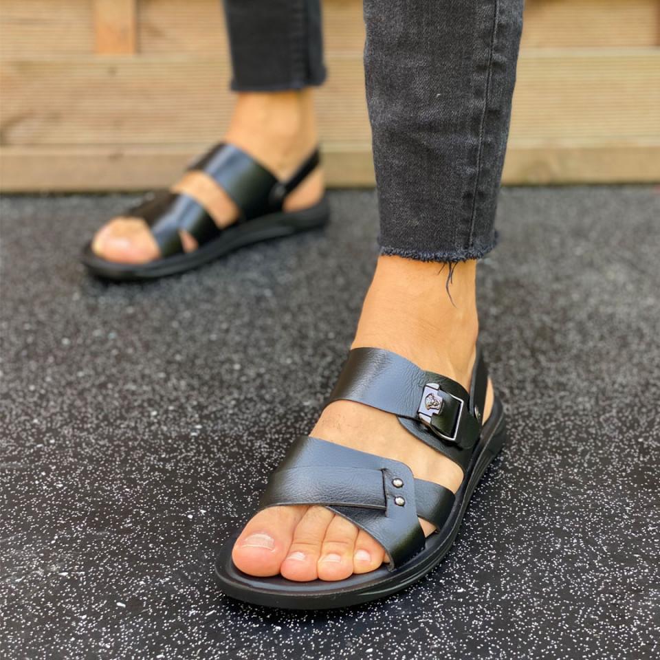 Sandale elegante barbati, premium, model casual, ISAHAR