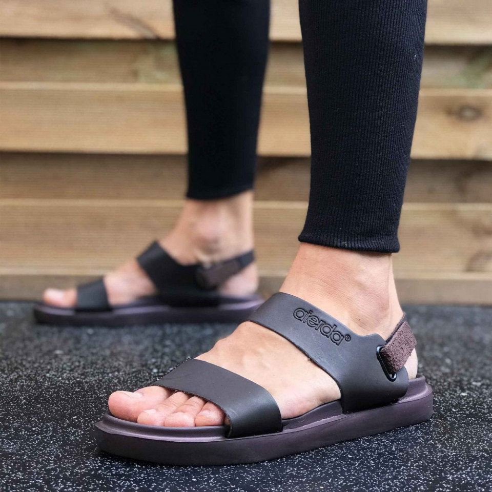 Sandale sport barbati, maro, talpa din spuma, ISAHAR