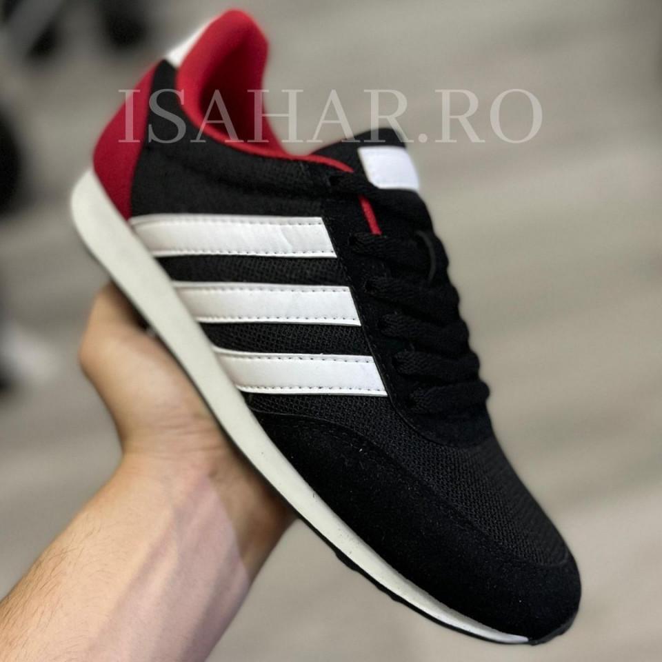 Pantofi sport negri, casual, din material textil, ISAHAR