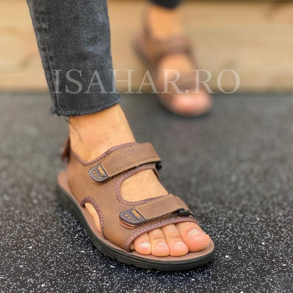 Sandale sport barbati, pentru drumetie, model casual, ISAHAR