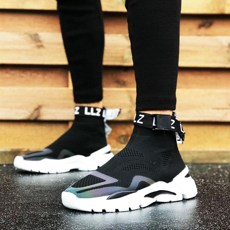 Pantofi sport barbati, negri, comozi, usor de incaltat, talpa spuma premium, ISAHAR
