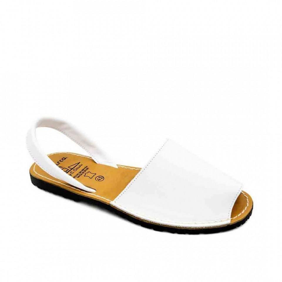 Sandale Avarca barbati albe, PIELE NATURALA, usoare si confortabile, casual, Isahar