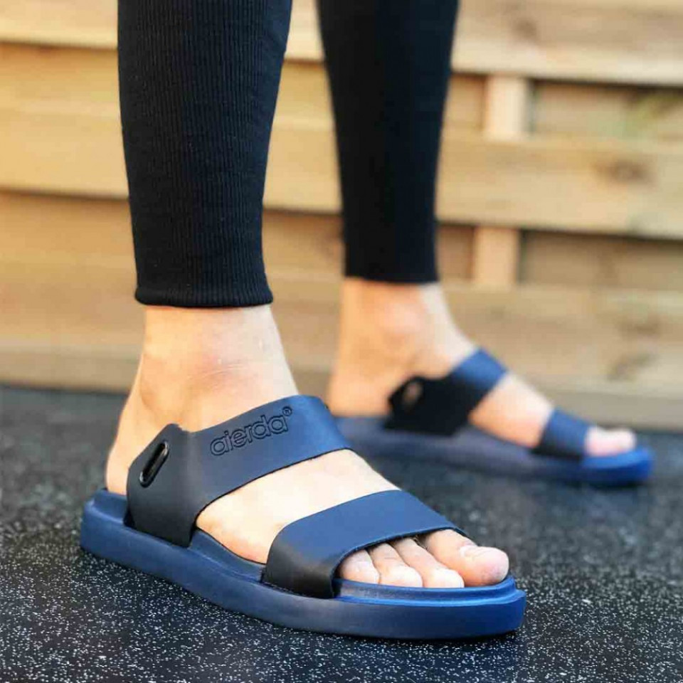 Sandale sport barbati, albastre, talpa din spuma, ISAHAR