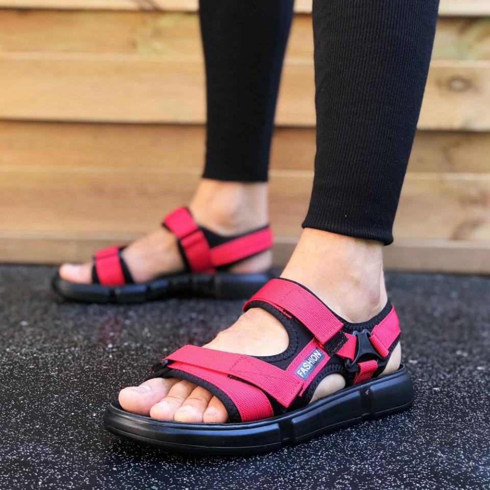 Sandale sport barbati, rosii, foarte usoare, ISAHAR
