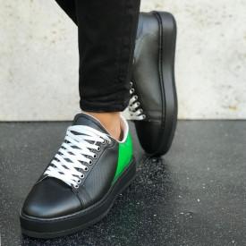 Pantofi sport barbati, cu aplicatii verzi, confortabili, ISAHAR