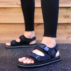 Sandale sport barbati, negre, foarte usoare, ISAHAR