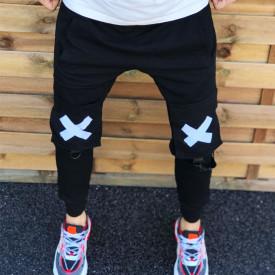 Pantaloni barbati din bumbac moale, de inalta calitate, model slim fit, ISAHAR