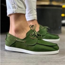 Pantofi sport barbati, kaki, din material textil, ISAHAR