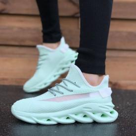 Pantofi sport barbati, menta, comozi, usori, cu siret, ideali pentru alergat
