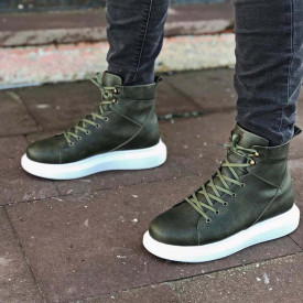Ghete barbati kaki inalte, din cele mai usoare si rezistente materiale SKI, ISAHAR