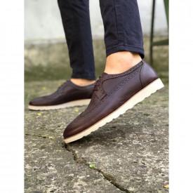 Pantofi eleganti barbati, maro, din PIELE NATURALA, ISAHAR