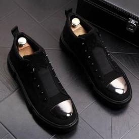 Pantofi sport barbati, negri, cu aplicatii , pentru evenimente, ISAHAR