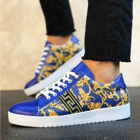 Pantofi casual albastri, cu talpa usoara din spuma, ISAHAR