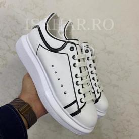 Pantofi sport barbati, albi, calitate premium, ISAHAR