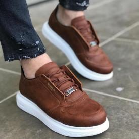 Pantofi sport barbati, maro, inchidere siret, ISAHAR