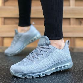 Pantofi sport barbati, gri, cu talba air MAX, foarte usori si comozi