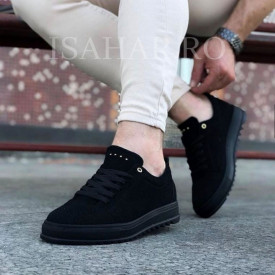 Pantofi sport barbati, negri, Armyx, model nou, casual, ISAHAR