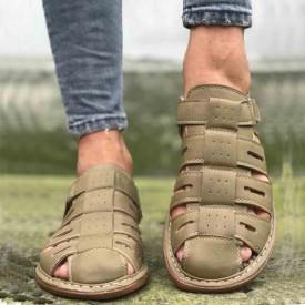 Sandale barbati crem, clasice, foarte usoare si confortabile, Isahar
