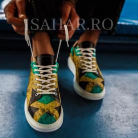 Pantofi sport barbati, cu imprimeu colorat, foarte comozi, ISAHAR