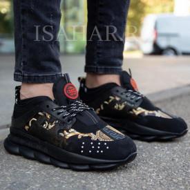 Pantofi sport barbati, foarte usori si comozi, negri, ISAHAR