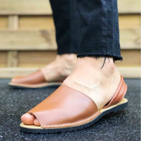 Sandale Avarca barbati maro, PIELE NATURALA, usoare si confortabile, Isahar