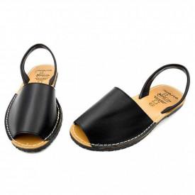 Sandale Avarca barbati negre, PIELE NATURALA, usoare si confortabile, Isahar