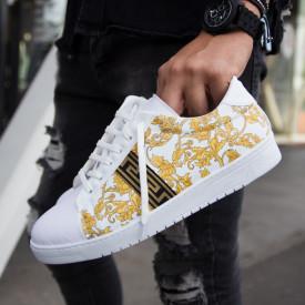 Pantofi casual albi, cu talpa usoara din spuma, ISAHAR