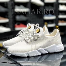 Pantofi sport albi, casual, foarte usori si comozi, ISAHAR
