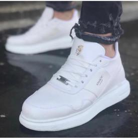 Pantofi sport barbati, albi, foarte usori si comozi, ISAHAR