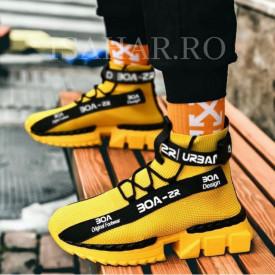 Pantofi sport galbeni, talpa usoara din spuma, foarte confortabili, ISAHAR