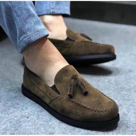 Mocasini barbati, kaki, din piele ecologica, ISAHAR