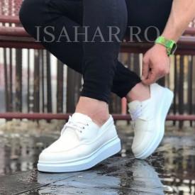 Pantofi sport barbati, albi, foarte usori si comozi, un model special, ISAHAR