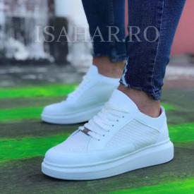 Pantofi sport barbati, albi, model premium RMB, ISAHAR