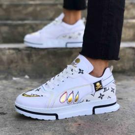 Pantofi sport barbati, eleganti VRS albi, premium, ISAHAR
