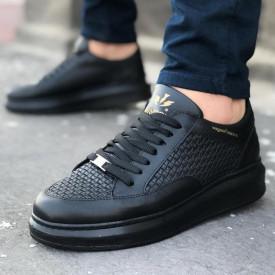 Pantofi sport barbati, negri model RMB premium, ISAHAR